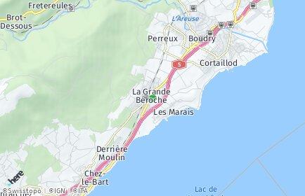 Stadtplan Bevaix