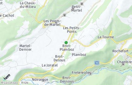 Stadtplan Brot-Plamboz