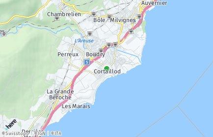 Stadtplan Cortaillod
