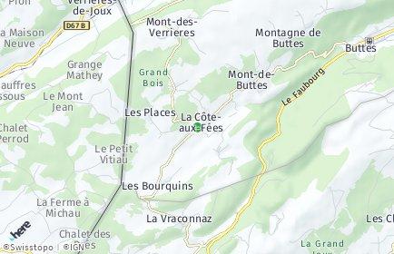 Stadtplan La Côte-aux-Fées