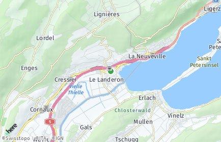 Stadtplan Le Landeron