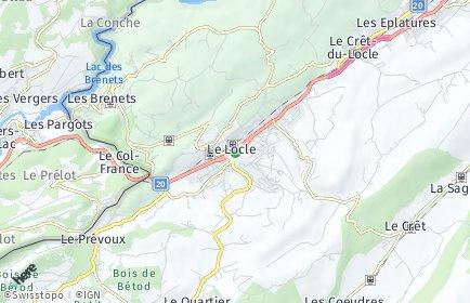 Stadtplan Le Locle OT Les Billodes