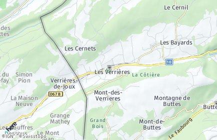 Stadtplan Les Verrières