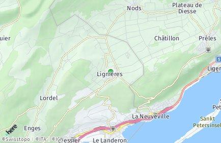 Stadtplan Lignières