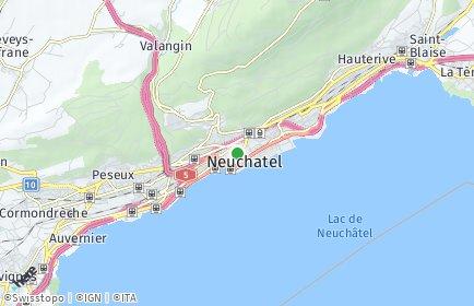 Stadtplan Neuchâtel