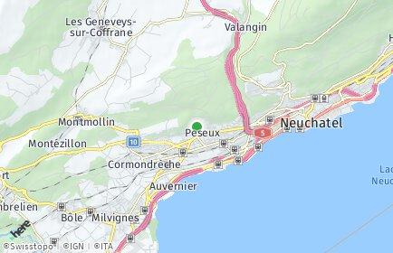 Stadtplan Peseux