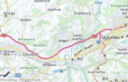 Stadtplan Gaiserwald OT Engelburg
