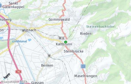 Stadtplan Kaltbrunn