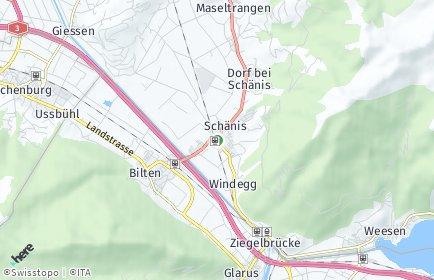 Stadtplan Schänis