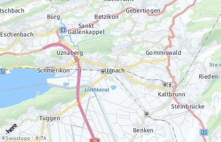 Stadtplan Uznach