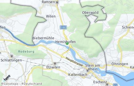 Stadtplan Hemishofen