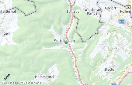 Stadtplan Merishausen