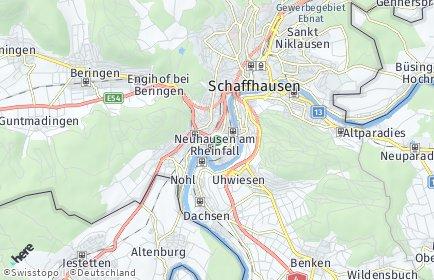 Stadtplan Neuhausen am Rheinfall