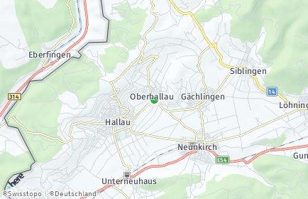 Stadtplan Oberhallau
