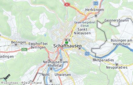Stadtplan Schaffhausen OT Hochstrasse/Geissberg