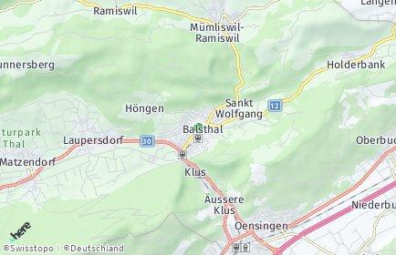 Stadtplan Balsthal