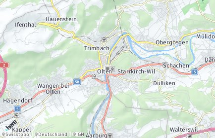 Stadtplan Olten