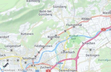 Stadtplan Riedholz