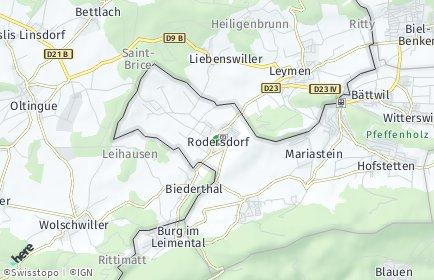 Stadtplan Rodersdorf