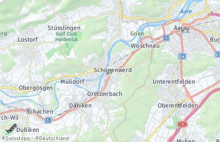 Stadtplan Schönenwerd