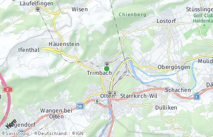 Stadtplan Trimbach