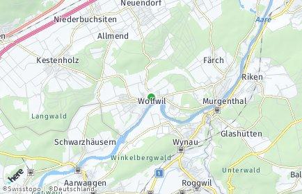 Stadtplan Wolfwil