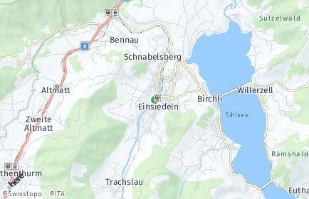Stadtplan Einsiedeln OT Euthal