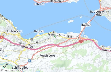 Stadtplan Freienbach OT Hurden