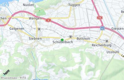 Stadtplan Schübelbach OT Buttikon