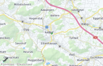 Stadtplan Aadorf OT Guntershausen