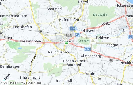 Stadtplan Amriswil OT Schocherswil