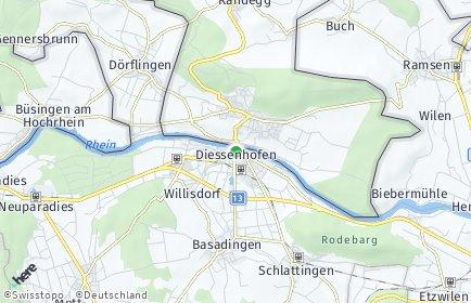 Stadtplan Diessenhofen