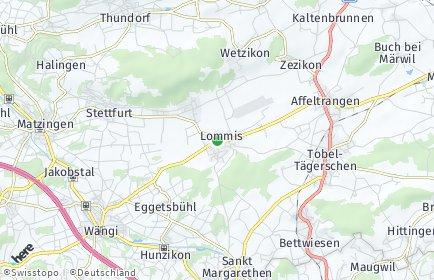 Stadtplan Lommis