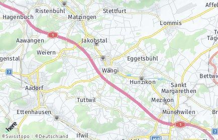 Stadtplan Wängi