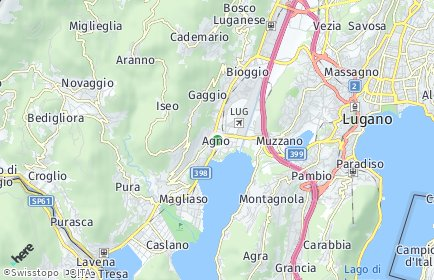 Stadtplan Agno