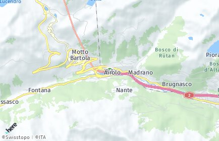 Stadtplan Airolo