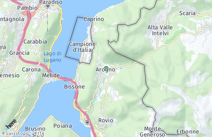 Stadtplan Arogno