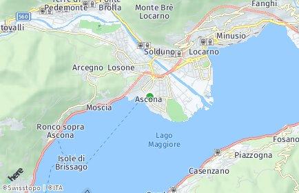 Stadtplan Ascona