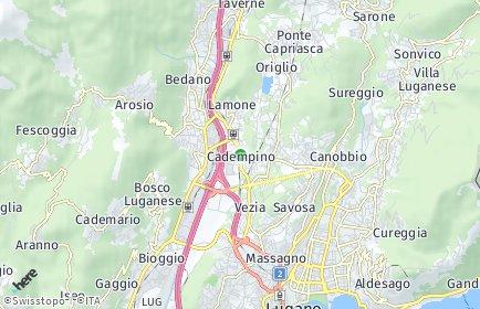 Stadtplan Cadempino