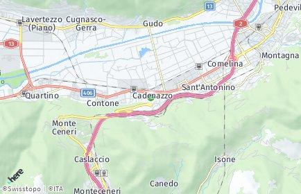 Stadtplan Cadenazzo
