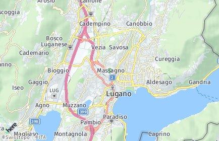 Stadtplan Massagno