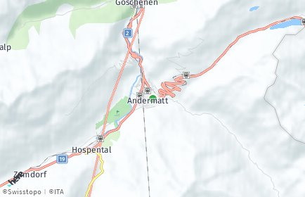 Stadtplan Andermatt