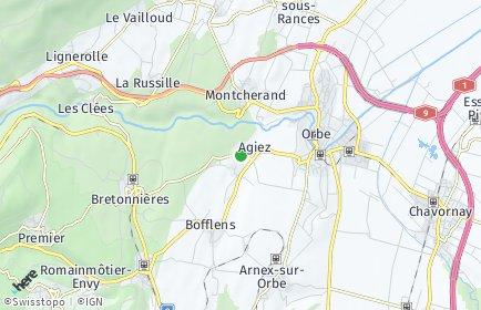 Stadtplan Agiez