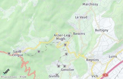 Stadtplan Arzier