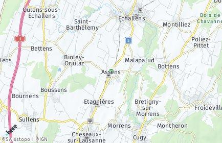 Stadtplan Assens