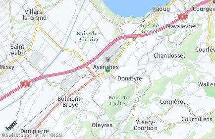 Stadtplan Avenches