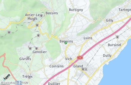 Stadtplan Begnins