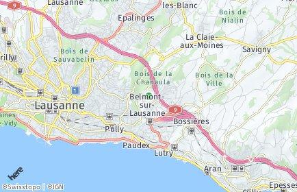 Stadtplan Belmont-sur-Lausanne