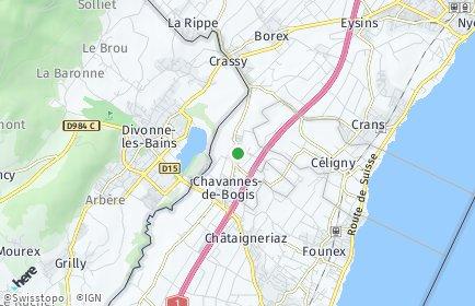 Stadtplan Bogis-Bossey
