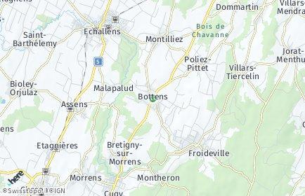 Stadtplan Bottens